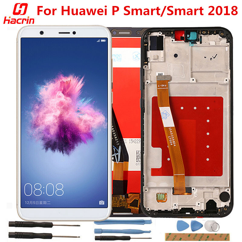 For Huawei <font><b>P</b></font> <font><b>Smart</b></font> LCD Display+Touch Screen with frame Tested No Dead Pixel Screen Replacement For Huawei <font><b>P</b></font> <font><b>Smart</b></font> 2018 <font><b>5.65inch</b></font> image