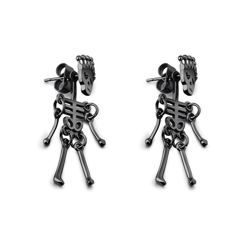 Classic Unisex Small Stud Earrings Man Women Classic Punk Stainless Steel Party Ear Jewelry Gift FreeShipping