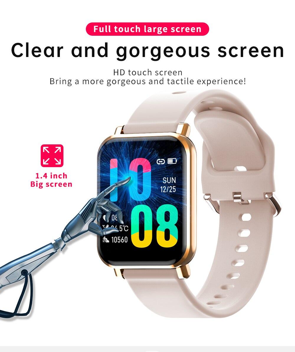 Novo relógio inteligente homem 1.4-inch hd tela