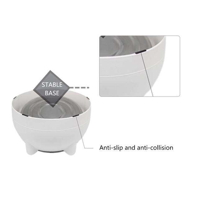 Non-slip Cat Dog Bowl 15 Degrees Tilted Safeguard Neck Puppy Cats Feeder Stainless Steel Crashworthiness Dish for Cat Pet Bowls 3