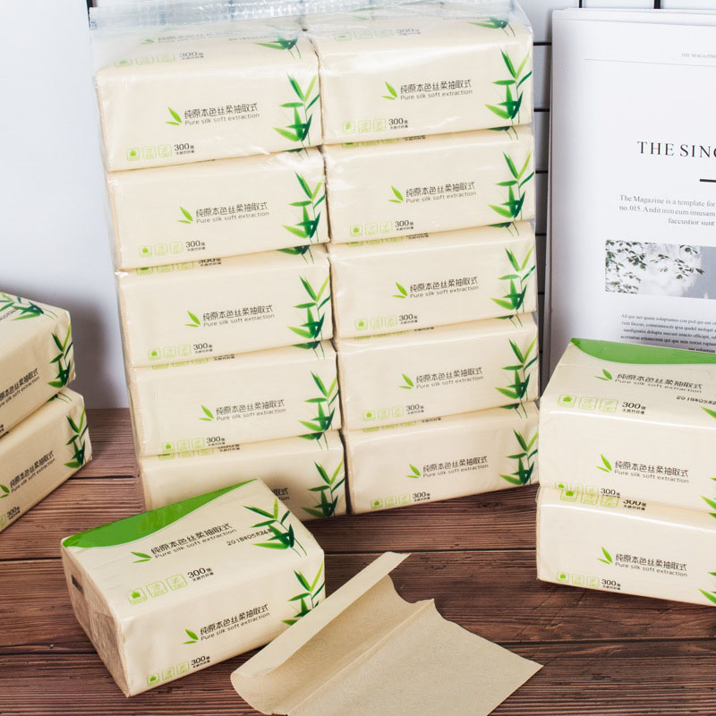 10 Bags Bamboo Fiber Paper Baby Security Towel Draw Paper Toilet Paper Wood Color Sheets Natural Butt Tampon Hotel Family