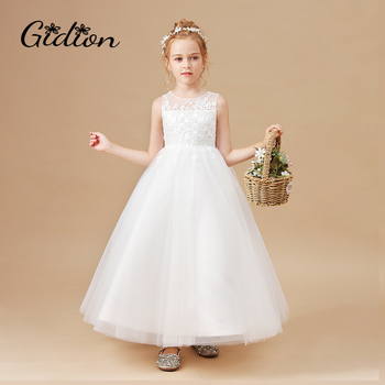 Ball Gown White Flower Girls Dress 1