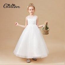 Бальное платье белые платья с цветами для девочек свадебное