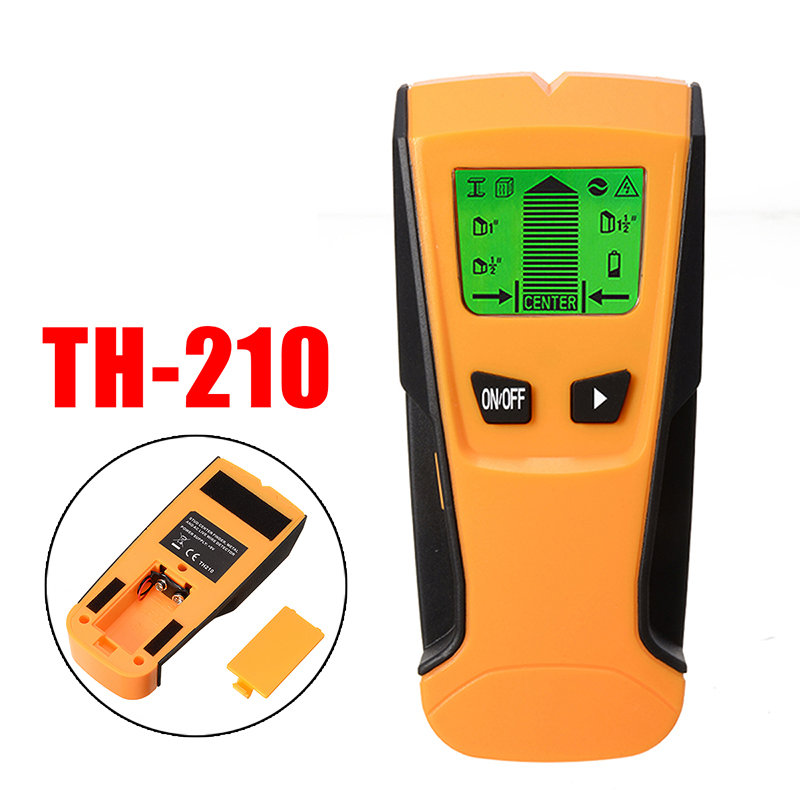 3In1 Stud Wood Wall Center Finder Scanner Metal AC Live Wire Detector LCD Screen