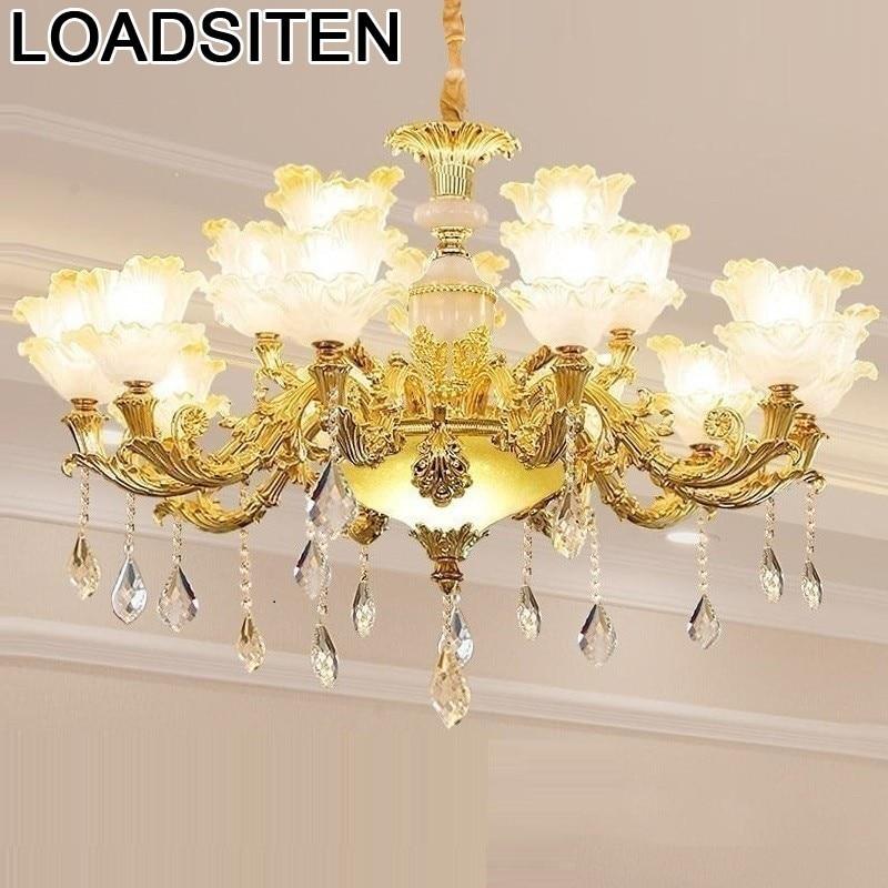 Nordic Crystal Industrial Pendant Light Lustre E Pendente Para Sala De Jantar Lampen Modern Luminaire Suspendu Hanging Lamp