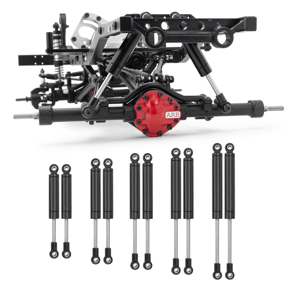 YEAHRUN Black Aluminum Aolly Climbing Car 80-120mm Shock Absorber Springs Set For SCX10 TF2 RC Rock Crawlers Accessory