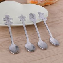 Christmas-Spoon Stainless-Steel Creative 12-Pack