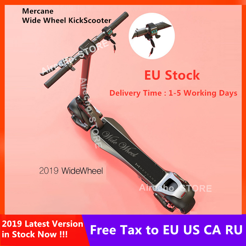 EU Stock Newest Mercane WideWheel KickScooter Wide Wheel 48V 500W / 1000W Foldable Smart Electric Scooter Dual Motor Hoverboard