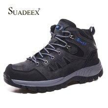 SUADEEX Men Hiking Boots Waterproof Shoes Warm Climbing Fishing High-Traction Grip Outdoor Winter