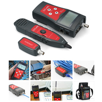 Multi functional LCD Network Cable Tester RJ11 RJ45 Wire Length Finder with 1 Remote Adapter