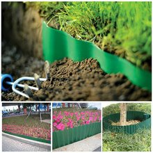Plastic Garden Grass Lawn Edge Edging Border Fence Wall Driveway Roll Path Guardrail