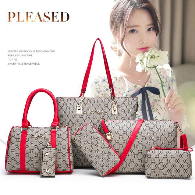 Womens Handbag 6 Set of Luxury Vintage Fashion