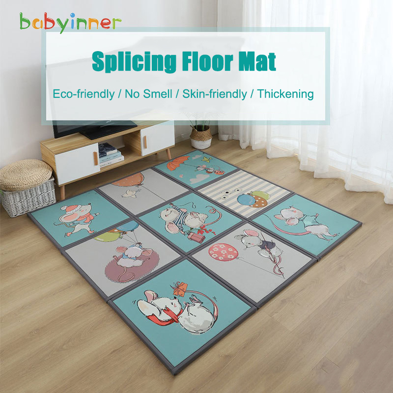 Baby Inner Cartoon Baby Play Mat Anti-fall Splicing Floor Mat Foam Thickening Crawling Puzzle Mat Living Room Bedroom 60*60cm