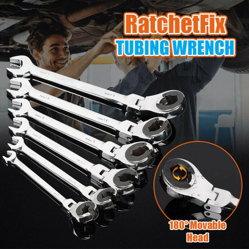 8-19mm Multi-function Ratchet Plum Blossom Open Spanner Dual-use Adjustable Wrench Socket Wrench Set Strap Wrench Torque Wrench