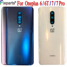 Original A6000 Glass For OnePlus 6 7 Pro Back Battery Cover Door Rear