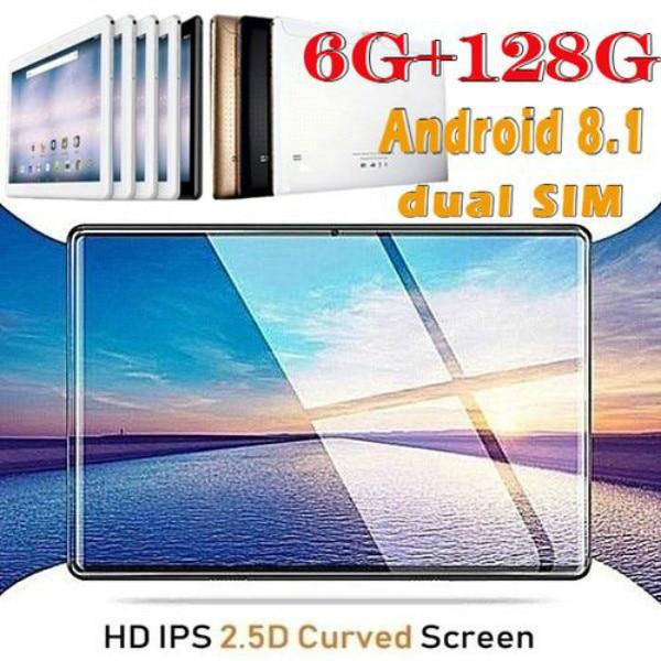 2020 High Quality 10.1 Inch HD 2.5D Screen Dual Camera Tablet PC 4G/Bluetooth/WiFi 6GB RAM+128GB ROM  Tablets Kids Tablet FM GPS