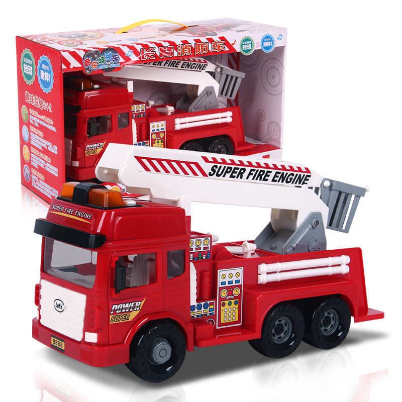 Yue Fei 9888 LEFEI Large Size Inertia Fire Truck Electric Educational Sound And Light CHILDREN'S Toy Model