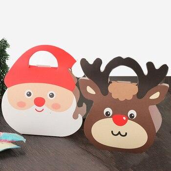 Kids Handbag Mini Cartoon Gift Box Christmas Candies Paper Box Chocolate Food Packaging Bags Party Colourful Folding Decoration