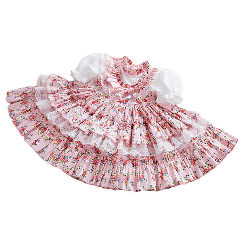 Cô Gái Tây Ban Nha Đầm Hoàng Gia Trang Phục Trẻ Em Áo Cưới Công Chúa Sinh Nhật Đầm Dự Tiệc Phối Ren Áo Dây Fille Bé Gái Boutique Quần Áo