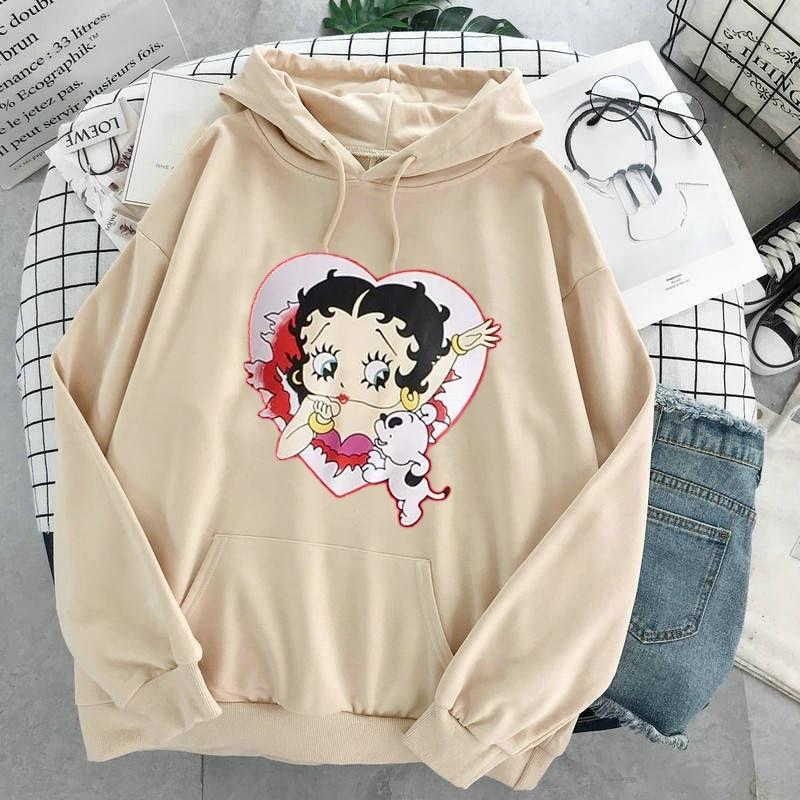 Plus Size sweatshirt Women Summer 2021 Spring Oversized Cute Print hoodie Cute Hip hop Kawaii Harajuku womens tops clothes 24