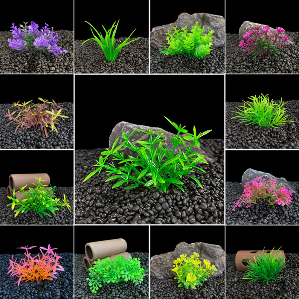 Simulation Artificial Plants Aquarium Fish Tank Decor Water Weeds Ornament Plant Aquarium Plastic Grass Fish Tank Decoration(China)