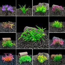 Simulação artificial planta subaquática aquário decoração do tanque de peixes ornamento proteção ambiental água grama visualização decoração