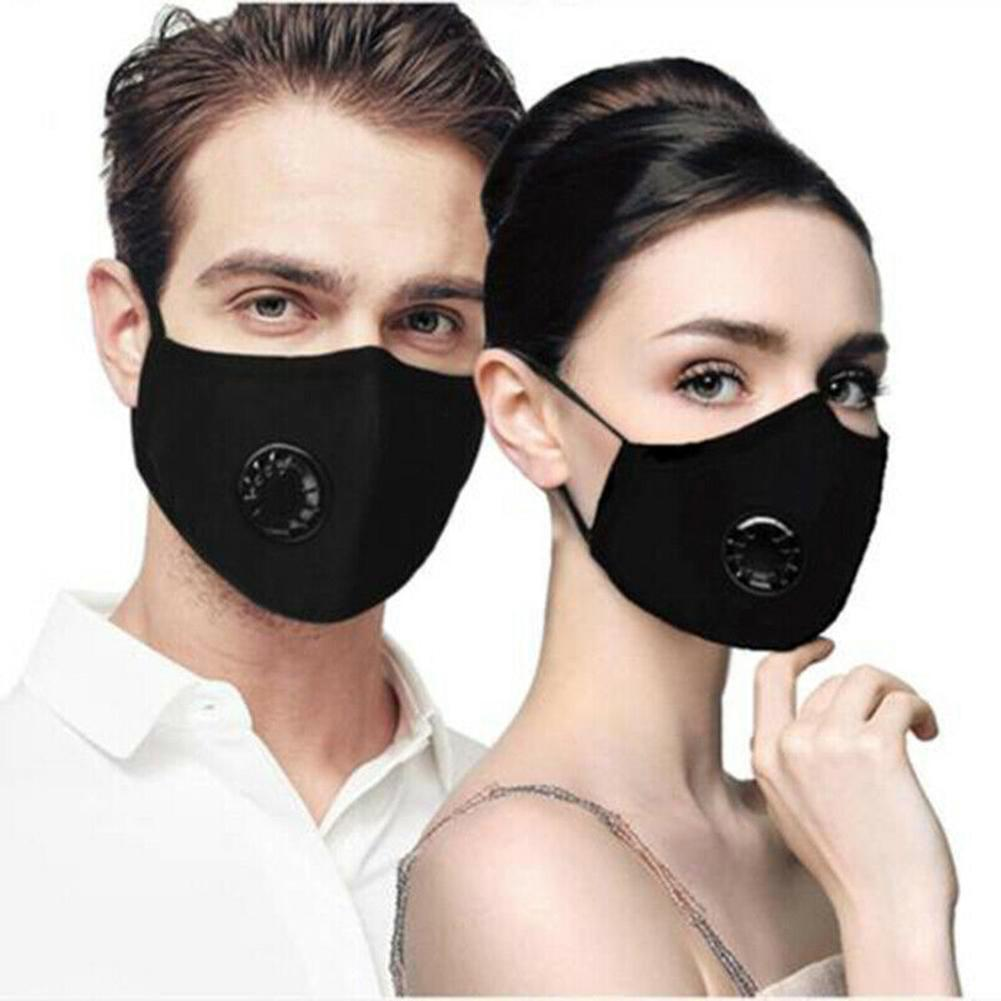 Antiviral Sport Face Mask With Filter Activated Carbon PM 2.5 Anti-Pollution Running Cycling Mask With 2 Filters