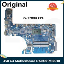 LSC For HP PROBOOK 450 G4 Laptop Motherboard With SR2ZU I5-7200U CPU DA0X83MB6H0 DDR4
