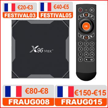 VONTAR X96 max plus Android 9 0 TV pudełko procesor Amlogic S905X3 czterordzeniowy 4GB 32GB 64GB Wifi 4K X96Max X3 odtwarzacz multimedialny inteligentny dekoder tanie i dobre opinie HAIMAITONG 1000 M CN (pochodzenie) Procesor Amlogic S905X3 Quad-core 64-bit 16 GB eMMC Brak 2G DDR3 X96 Max+ 802 11n 2 4GHz 5 GHz