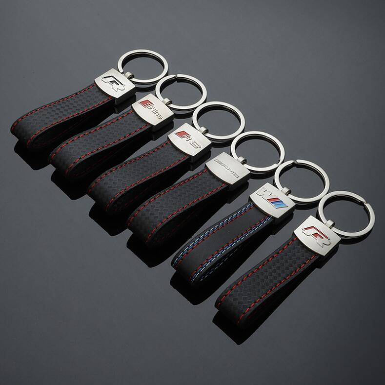 New Holder Bag Real Cowhide Genuine Leather Keychain Pocket For Car Keys Clip Ring Women Men Handmade Accessories Gift