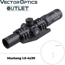 Векторная оптика Mustang 1,5-4x30 стрелковый прицел шеврон баллистическая сетка BDC прицел смещение цельное крепление AR15. 223