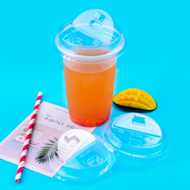 50 piezas de calibre 90 transparente taza de café desechables 500ml 16oz de jugo de té de leche de agua de soda de embalaje para llevar taza creativa tapa-in Vasos desechables from Hogar y Mascotas    2
