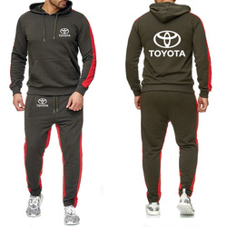 Толстовки для мужчин с логотипом Toyota, толстовка с принтом автомобиля, мужские толстовки с капюшоном, флисовый хлопковый спортивный костюм, ...