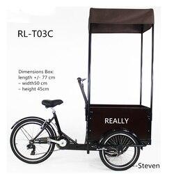 Darmowa wysyłka mini Street Cargo Bike RL 103C 3 koła elektryczny rower dostawczy pedał trike trójkołowy dostawa żywności|Roboty kuchenne|   -