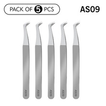 11 types 5pcs/10pcs Eyelash Extension Tweezers Volume Stainless Steel Accurate curved Tweezer Non-magnetic Eyelashes Pincets