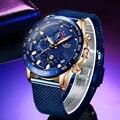 LIGE модные новые мужские часы брендовые Роскошные наручные кварцевые часы синие часы мужские водонепроницаемые спортивные хронограф Relogio ...