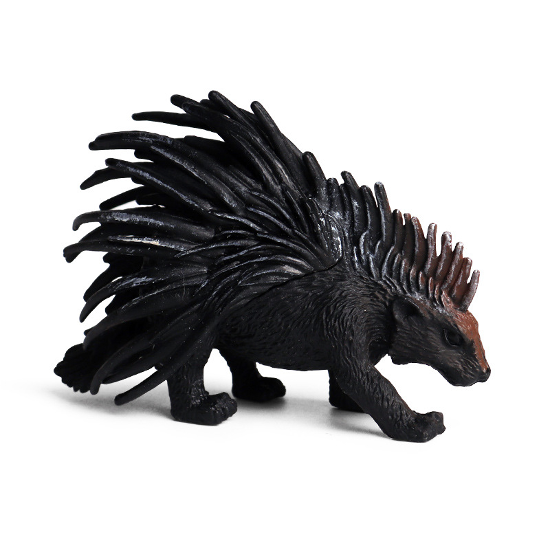 Porcupine Animal Model Action Figure Simulation Wild Animal Action Figures Collection PVC Children's Cognitive Toys