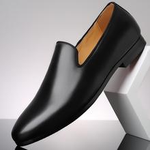 Merkmak prawdziwej skóry męskie mokasyny obuwie męskie wkładane buty obuwie męskie wesele mokasyny do jazdy obuwie tanie tanio CN (pochodzenie) Skóra bydlęca RUBBER Men loafers Slip-on Pasuje prawda na wymiar weź swój normalny rozmiar Buty łodzi