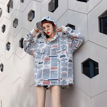Womens Jacket Printing Ink Letter Hooded Hip Hop Jackets champio Male Clothing Hat Men Coat Autumn winter