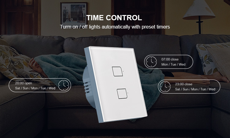 Hcb5ed4c5f1014578a60928822f33e1dd8 - BroadLink Bestcon TC2S  Single Pole RF433 Wireless Remtoe Control Smart Wall Light Touch Switch Works with Alexa Google Home