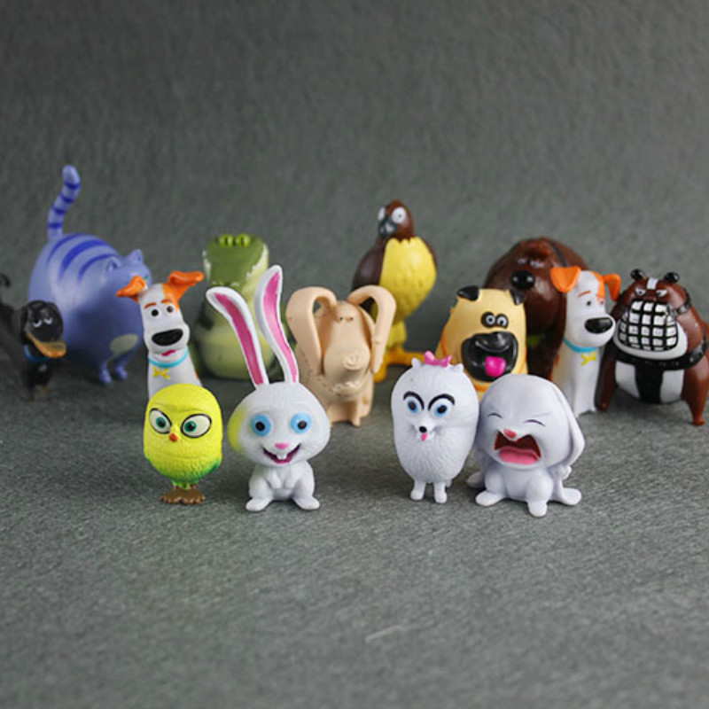 14 Pcs/lot Set Secret Life Of Pets 2 PVC Model Action Figures Small Toy Children Birthday Gift