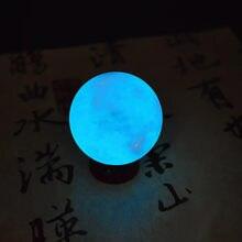 35MM niebieski Luminous kwarcowe kryształowe kulki kulkowe świecące w ciemności kamień Home Ornament dekoracyjny nocna lampka w kształcie księżyca dekoracja sypialni