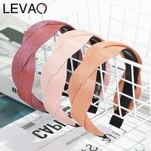 Levao Glossy S Shaped Headband Braided Hairband Solid Color