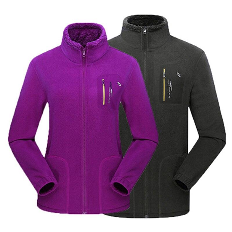 Men Women Winter Fleece Hiking Outdoor Sport Jacket Camping Thick Thermal Trekking Male Skiing Climbing Coat