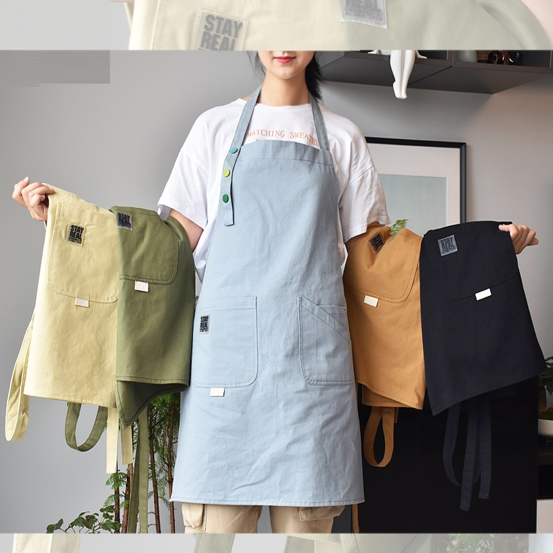 2019 אופנה בד כותנה סינר קפה ומספרה שרוולים עבודת סינר סינר בישול עבודת בגדי antifouling סינרים