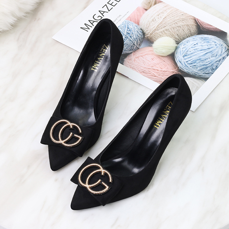 Women Classic Shoes High Heel Pumps Fashion 2019 Ladies Pointed Toe Wedding Dress Shoes Female Thin Heels Zapatos Mujer Autumn in Women 39 s Pumps from Shoes