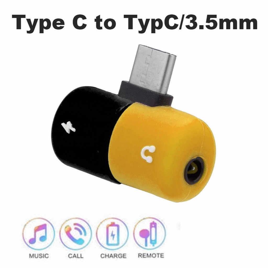 Tipo c para Fone de Ouvido 3.5 milímetros de Áudio Cabo de carregamento Adaptador de Carregador de Splitter Para Samsung Nota Galáxia 10 + Google Pixel 3 XL HUAWEI
