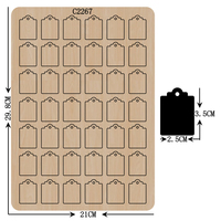 New card Wooden die Scrapbooking C2267 Cutting Dies for common die cutting machines on the market