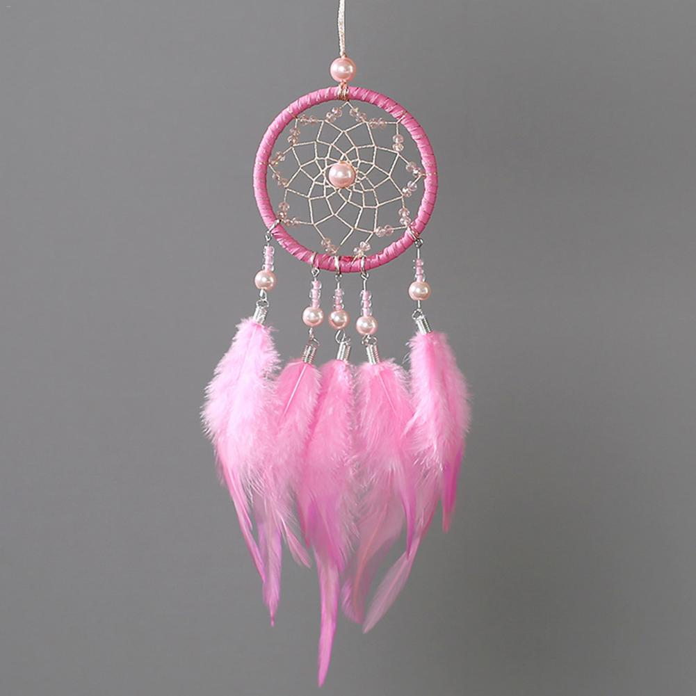 Wind Chimes Car Ornaments Dream Catcher Bedroom Decor Bells Dreamcatcher Pendant Decor Catching Wedding Guest Gift in Wind Chimes Hanging Decorations from Home Garden