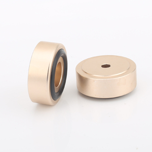 Image 2 - 30 ミリメートル * 12 ミリメートル機械加工フルアルミスピーカーアンプ分離ためコーン減衰足スパイク階のベースパッドスタンドハイファイオーディオ cd ラジオ dac